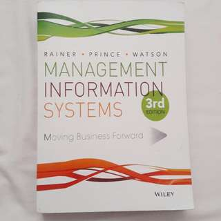 Management Information System ( Rainer . Prince . Watson ) 3rd edition