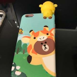iPhone case line bear (6 plus or 6s plus)