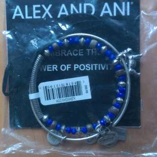 (全新 未開封) Alex and Ani 小狗 正能量 藍 手鐲 手環 embrace the power of positivity bracelet