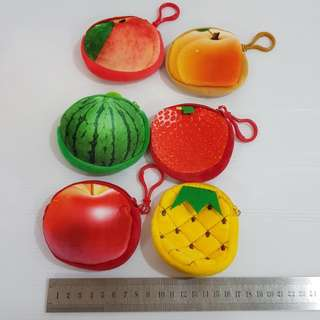 💝W40 fruits coin pouch purse bag wallet