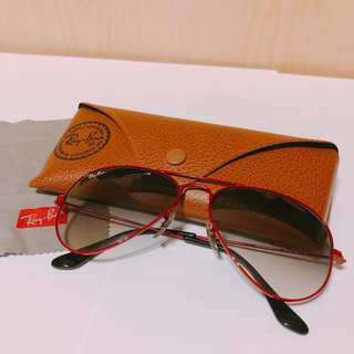 Ray Ban Aviator sunglasses 紅框 烏蠅太陽眼鏡