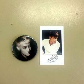 Tao Button Badge + Polaroid