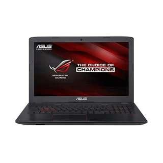 Kredit dp 10% ASUS ROG GL552VX-DM409T-4GB Black Free 1X angsuran tanpa CC