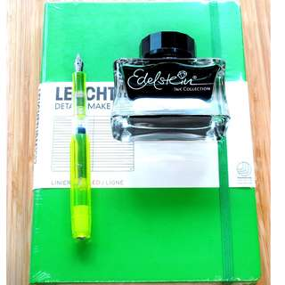 Kaweco Fountain Pen Set With Pelikan ink and Leuchtturm1917 NoteBook