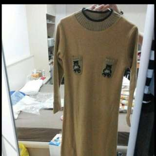 🚚 厚針織毛衣洋裝