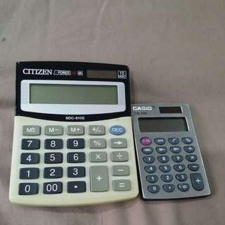 Casio Calculator And citizen.2 pcs for $10