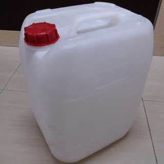 Empty 17L Plastic Tub