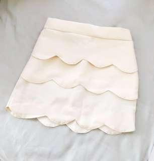 Korean Brand Mermaid Skirt in Beige