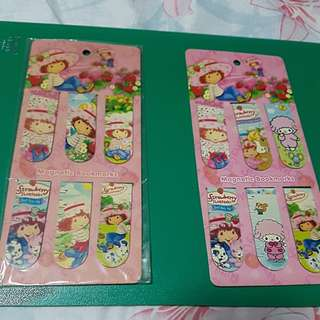 Strawberry Shortcake Magnet Bookmarks
