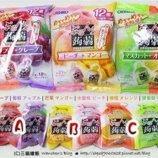 🚚 {天天隨時分享購}日本ORIHIRO 新食感蒟蒻擠壓式果凍12入