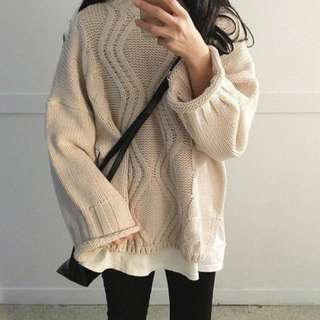 BN korean knitted long sleeve top