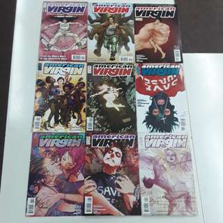 American Virgin (2006) Head & Going Down Comics Set
