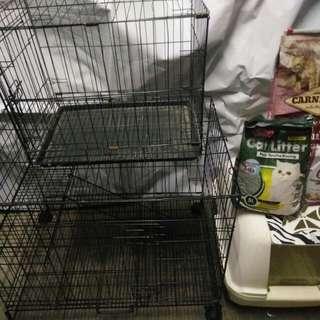 cat cage/sangkar kucing/litter box