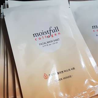 Moistfull collagen face mask by Etudehouse (worked wonders for my skin)
