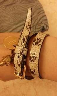 全新 Mcqueen Alexander Wang 蛇紋金扣手帶手鍊鏈手繩手鐲chain