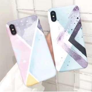 手機殼IPhone6/7/8/plus/X : 簡約淺色水墨色彩