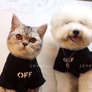 Pets Clothes Off White Tshirt