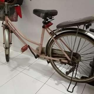 Sepeda Pink Usang nan Lucu + Pompa Ban
