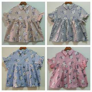 Strip Flower blouse