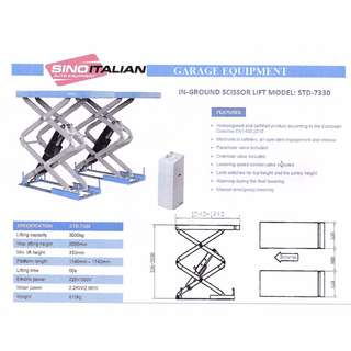 SINO ITALIAN In-Ground Scissor Lift