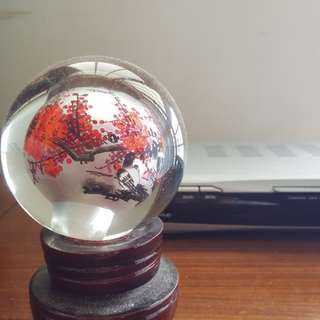 Crystal Ball  ( Beijing) hand painted