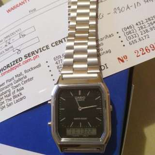 Authentic Stainless Casio watch