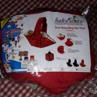 Gendongan Baby scots sling include apron/baju menyusui