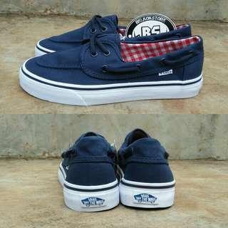 Vans zapato navy white