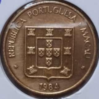 澳门币84年5毫全新按书价只售