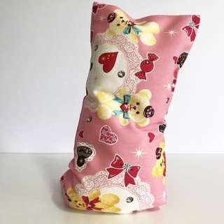 Bean Sprout Husk Pillow / Beanie Pillow , Fabric from Japan ( 100% Handmade 100% Cotton , Premium Quality!)