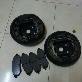 Brake pad depan and brake shoes bwlakang
