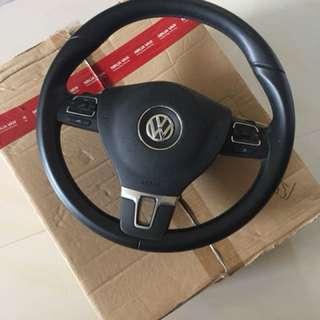 VW Golf MK6 steering wheel with airbag