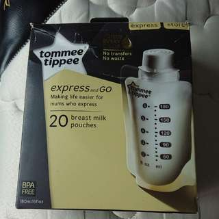 Tommee tippee express and go milk pouches