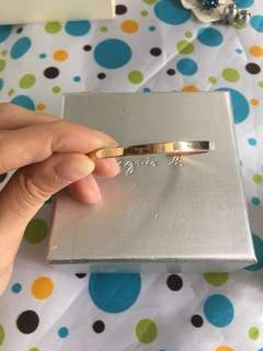 agnes b 玫瑰金手環