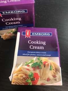 Cooking crean 2 盒