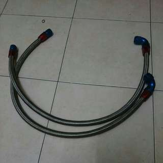Steel hose for adapter oil press