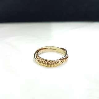 Tri-color ring 14k