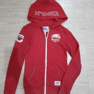Roots Taiwan紀念版紅色連帽外套-xs號
