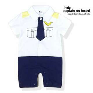 Captain Baby Costume Romper