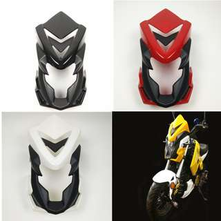 Honda MSX125 Front cowl fairings coverset head wind shield screen windshield windscreen modified transformers yellow red white black