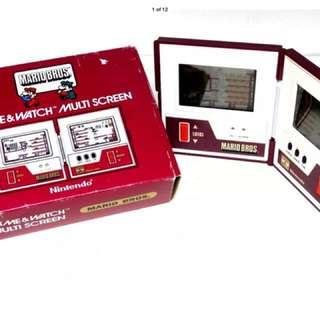 Rare! Excellent Condition!  Nintendo Game & Watch Multi-screen Mario Bros MW56