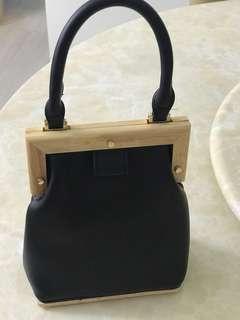 木製皮布小手袋
