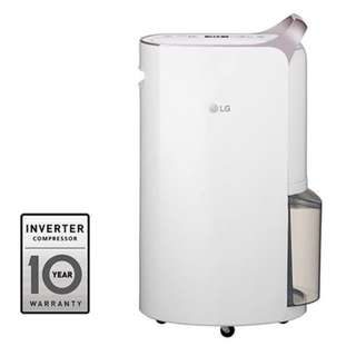 100% New - LG 17L 變頻式離子殺菌智能抽濕機 (韓國製造) Inverter Smart Dehumidifier with Ionizer (Made in Korea)