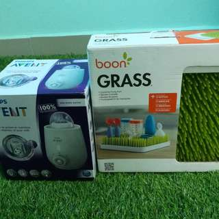 Philips Avent warmer and Boon grass drying rack