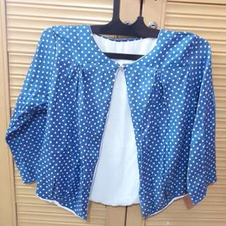Outwear Polkadot Blue-White