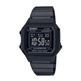 CASIO VINTAGE B650WB-1B BLACK STAINLESS WATCH FOR MEN AND WOMEN - COD FREE SHIPPING