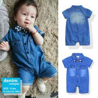 Baby Denim Romper