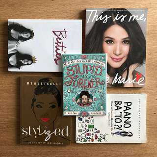 5 Books - Besties, Stylized, This Is Me Love Marie, Stupid is Forever & Paano Ba 'To?