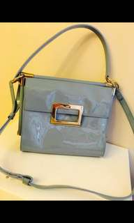 Roger Vivier Baby blue bag 粉藍色新款銀扣雙面袋包