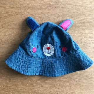 Mothercare Bunny Denim Hat (6-12 mos old)